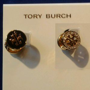 Tory Burch Earrings Reversible Gold Studs